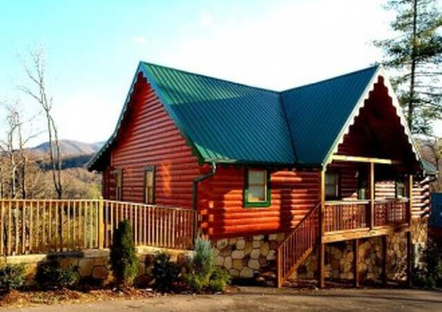 Point of view gatlinburg chalets cabin rentals tennessee for Large cabin rentals in tennessee