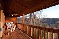 Who doesn't just love to sit on a deck in rockers and relax after a day in the mountains