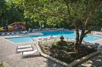 Pool area with playground