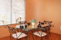 Comfortable dining off the kitchen and living area