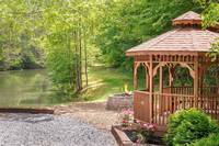 Gazeebo beside lake - just a short walk and shared by all 14 cabins