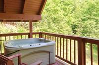Relaxing hot tub on the deck
