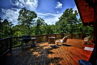 Huge Deck with wonderful views! at Livin' Lodge in Sky Harbor TN