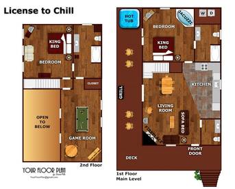 Floor Plan at License to Chill in Shagbark TN