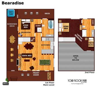 Floor Plan at Bearadise in Sky Harbor TN